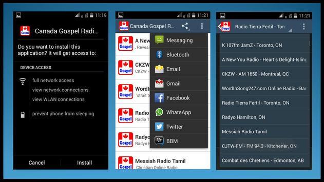 Canada Gospel Radio Stations apk screenshot
