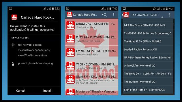 Canada Hard Rock Radio Station apk screenshot