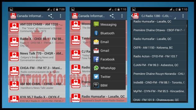 Canada Information Radios apk screenshot