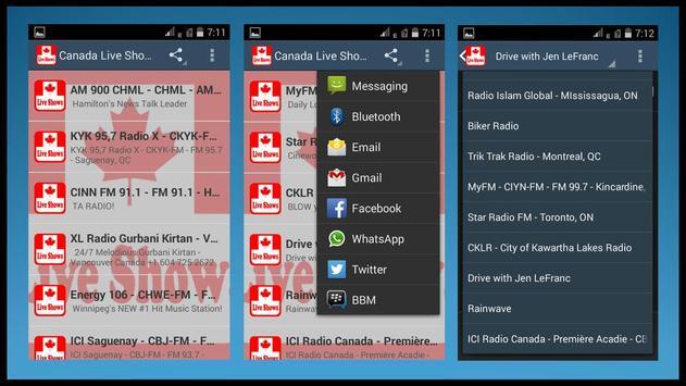 Canada Live Shows Radios apk screenshot
