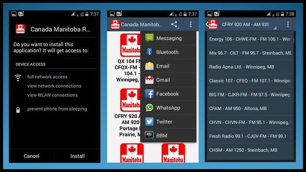 Canada Manitoba Radio Stations apk screenshot
