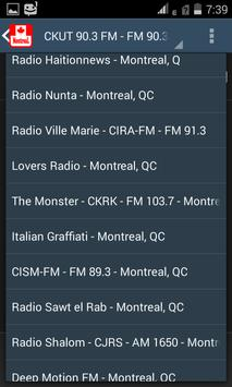 Canada Montreal Radio Stations apk screenshot