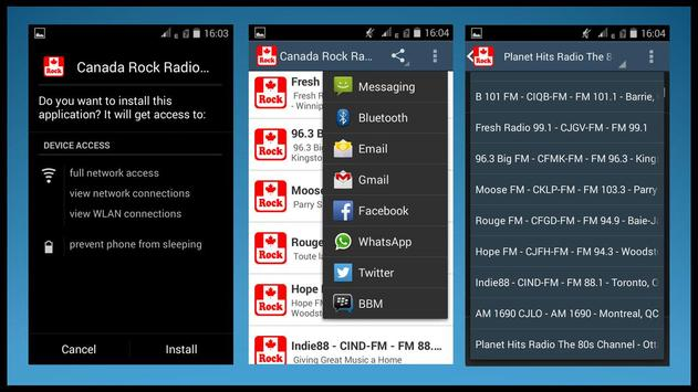 Canada Rock Radio Stations apk screenshot