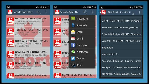 Canada Sport Radio Stations apk screenshot