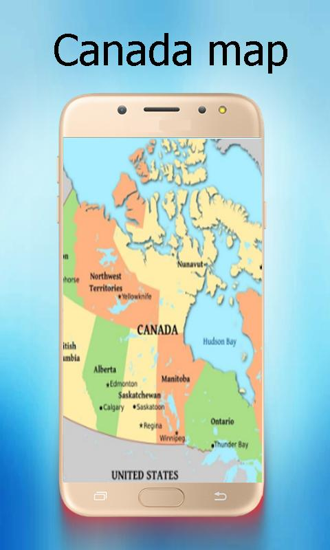Canada world map descarga apk gratis viajes y guas aplicacin canada world map poster gumiabroncs Image collections