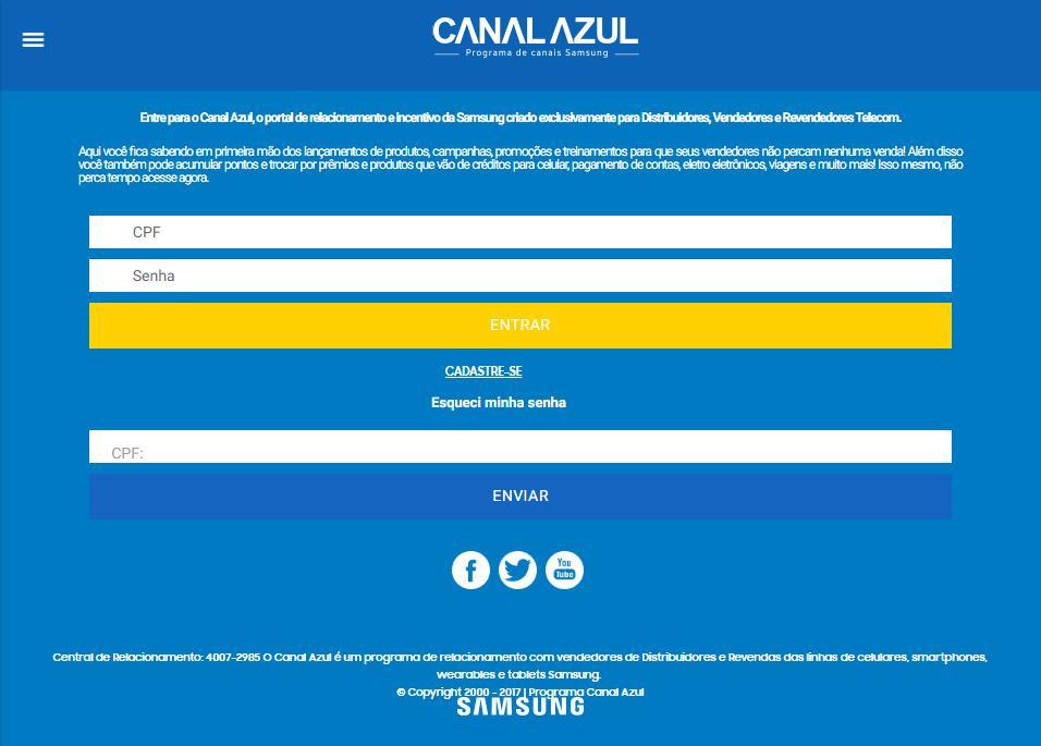Programa Canal Azul poster
