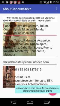 About CancunSteve apk screenshot