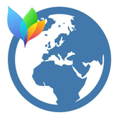 Theme XperiaCan - World (blue) icon