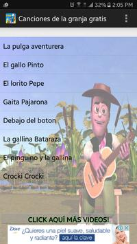 Canciones de la granja gratis poster