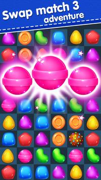 Candy Yummy - New Bears Candy Match 3 Games Free poster