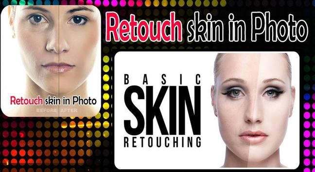 Retouch skin in Photo poster