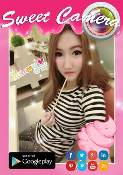Cute Girl Sweet Selfie Camera apk screenshot
