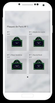 Plaques de Paris | № 1 apk screenshot