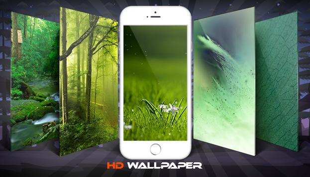 Green Soft Nature Wallpaper And Background poster