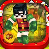 3D Comics Block Skins Running icon