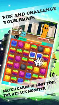 Cute Cat Cartoon Monster Match screenshot 1