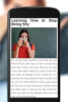 How To Not Be Shy apk screenshot