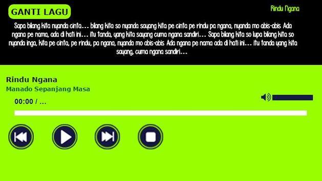 Lagu Manado Terpopuler apk screenshot