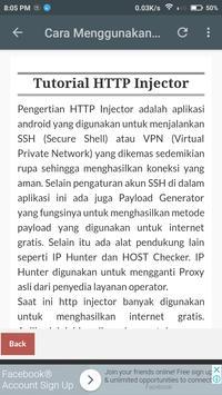 Free Tutorial HTTP Injector apk screenshot