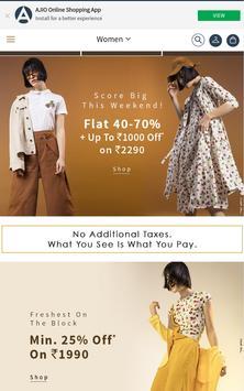 Ajiio Fashion Shopping App poster