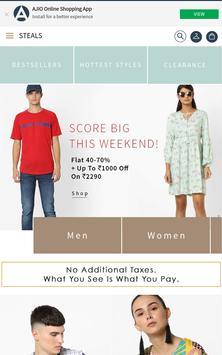 Ajiio Fashion Shopping App screenshot 1