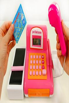 Cashier Toy Game For Kids ポスター