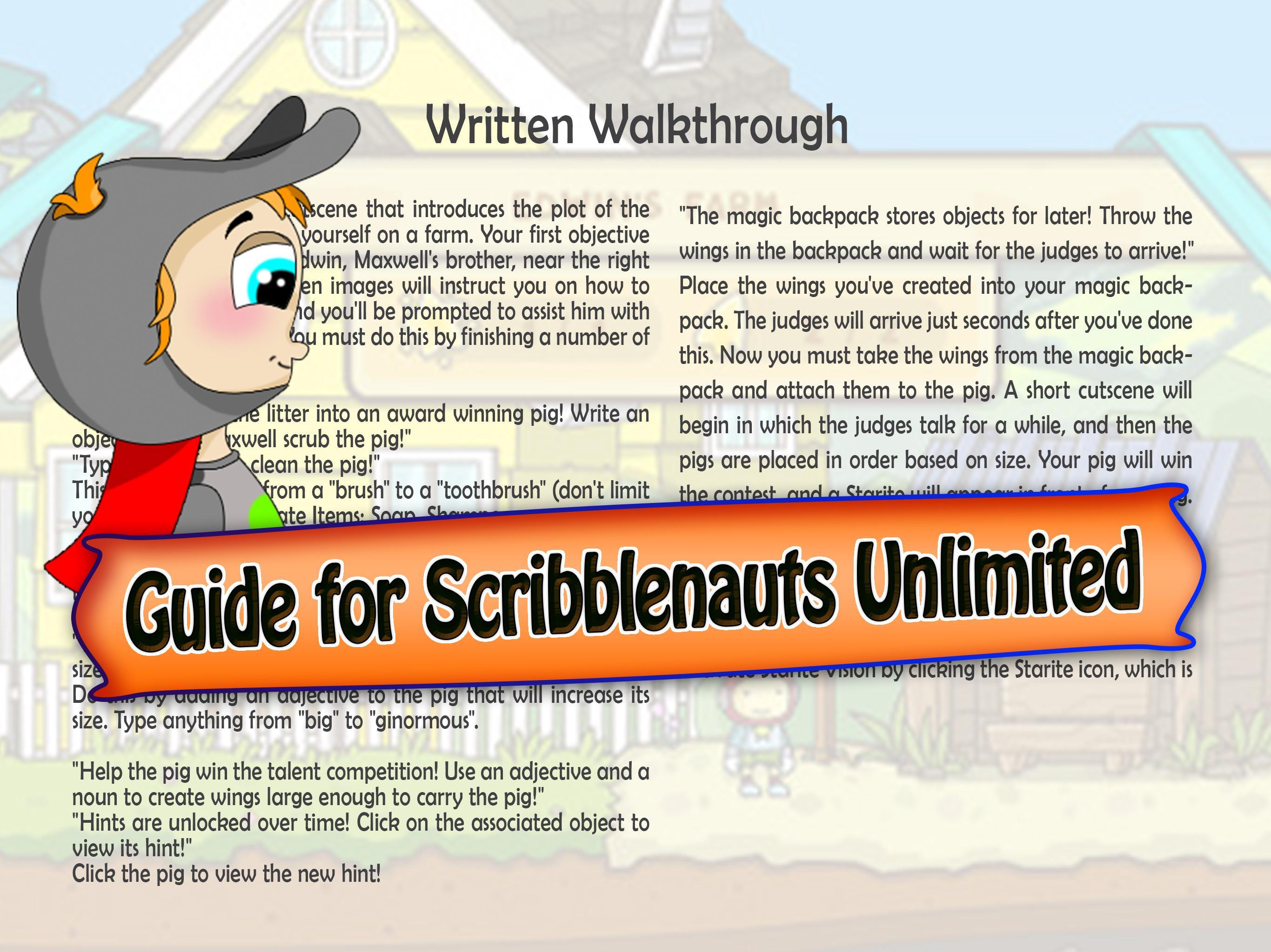 Guide Scribblenauts Unlimited for Android - APK Download