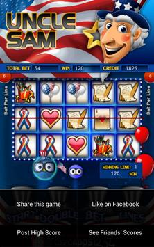 Uncle Sams Slot Machine HD apk screenshot