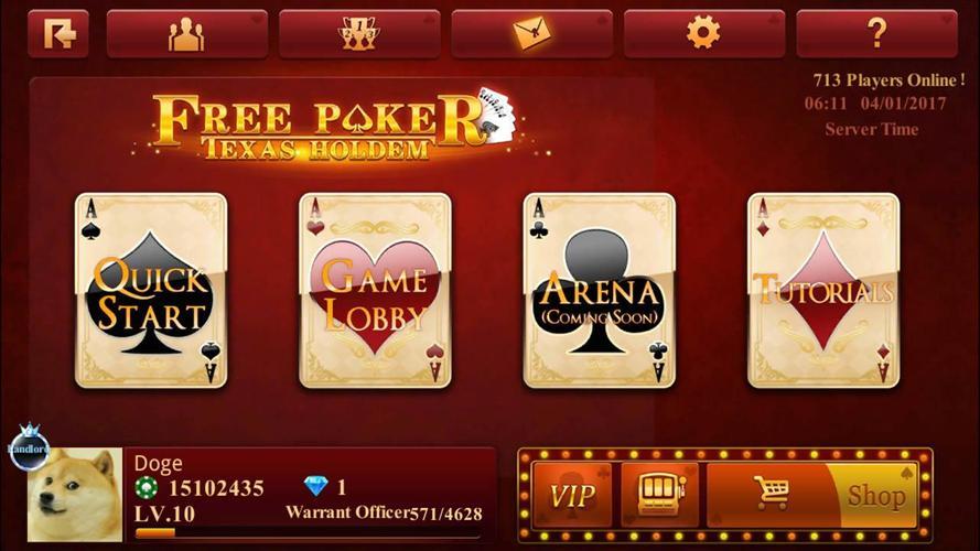 Free poker texas holdem online