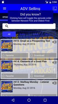 Advanced Selling Podcast apk screenshot