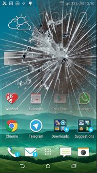 broken screen prank poster