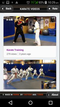 Karate Videos apk screenshot