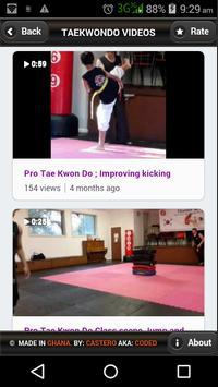 Taekwondo Videos apk screenshot