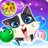 Bubble Shooter Rescue -Pet Cat Bubble blast crush icon