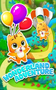 Bubble Shooter Rescue -Pet Cat Bubble blast crush poster