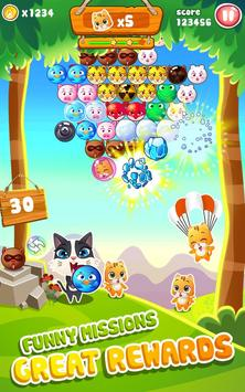 Bubble Shooter Rescue -Pet Cat Bubble blast crush screenshot 10