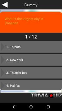 Canada Geography Quiz Game apk screenshot