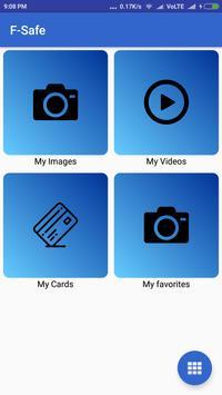 F-Safe - Hide photos/videos using fingerprint apk screenshot
