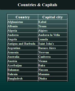 Country Capital learning screenshot 1