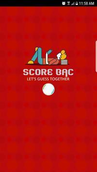 Score Bac poster