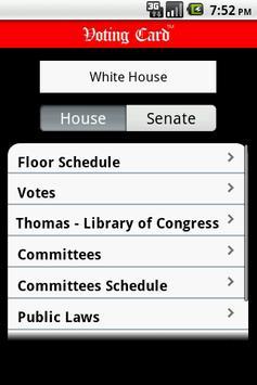 Voting Card Virginia Politics apk screenshot