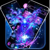 Capricorn Constellation Theme Glitter Purple Galax icon
