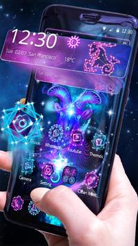 Capricorn Constellation Theme Glitter Purple Galax apk screenshot