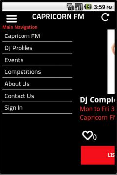 Capricorn FM screenshot 1