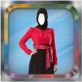 Arab Woman Abayas Photo Suit icon