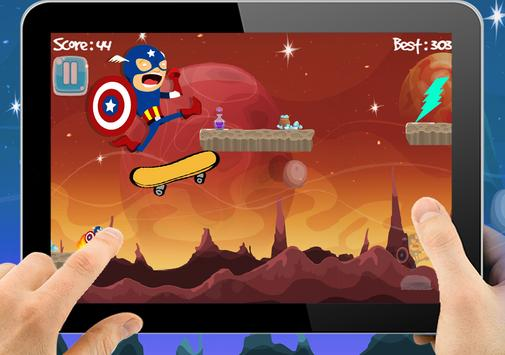 Superhero Runner Captain Adventures America Space apk screenshot