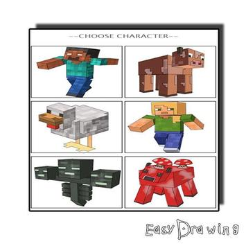 How To Draw Minecraft poster