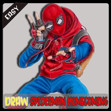 How To Draw Spidey Homecoming screenshot 6