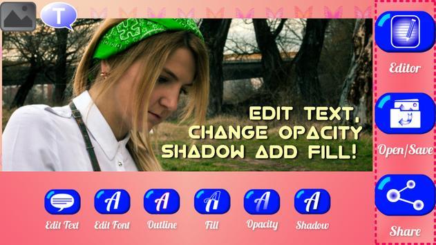 Caption Studio Text on Pics apk screenshot