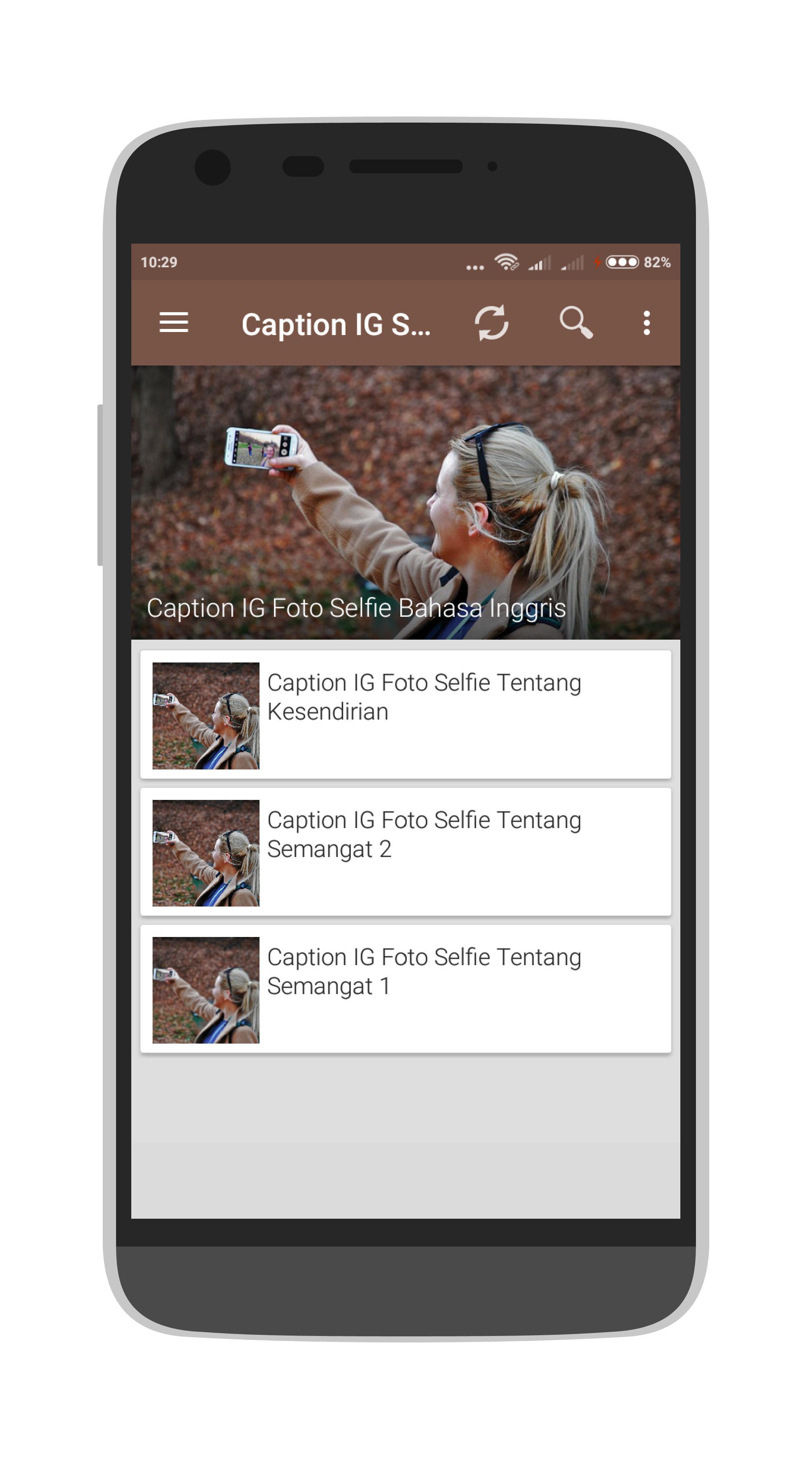 Caption IG Selfie For Android APK Download